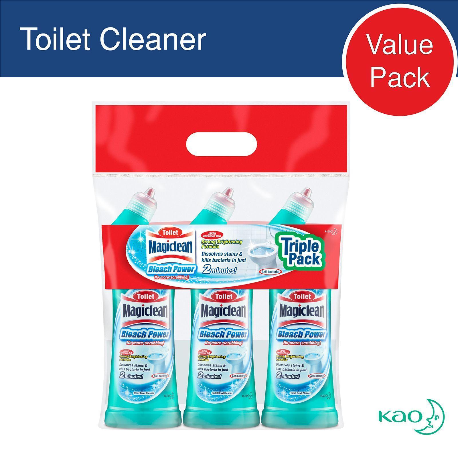 Magiclean Toilet Bleach 3 Pack By Redmart.