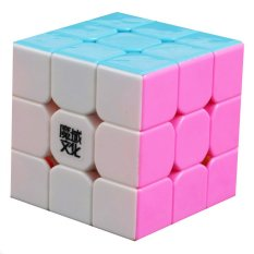 Coupon 360D Sc Moyu 3X3X3 Hualong Magic Cube Puzzle Pink Stickerless Multicolor Intl