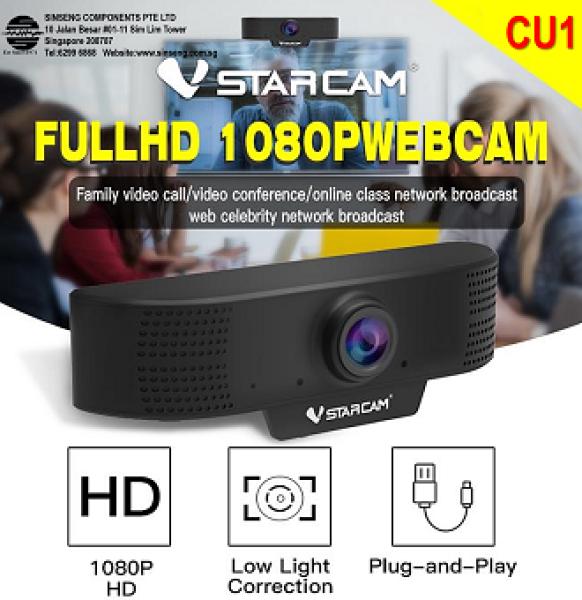 VStarcam CU1 Webcam - True Full-HD 1080P Webcam for Family Video Call, Video Conference Online Class Network Broadcast