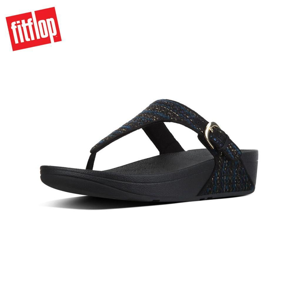 9a1c08058969 Fitflop™ The Skinny Tweed Navy Blue Women Flat Sandals