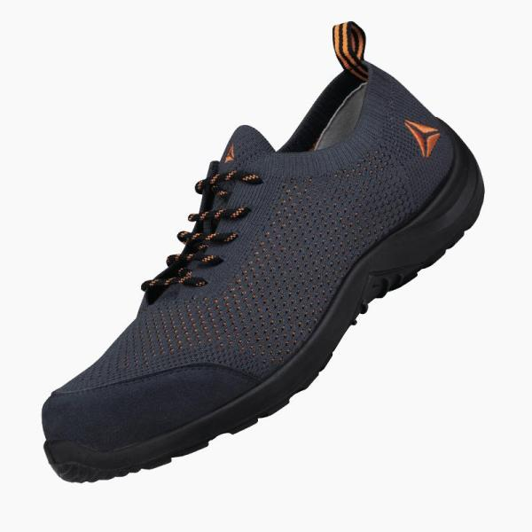 Deltaplus Summer Breathable Lightweight Mens and Womens Labor Protection Shoes Anti-Smashing Puncture Construction Site Flying Woven Fashionable Comfortable Safety Shoes