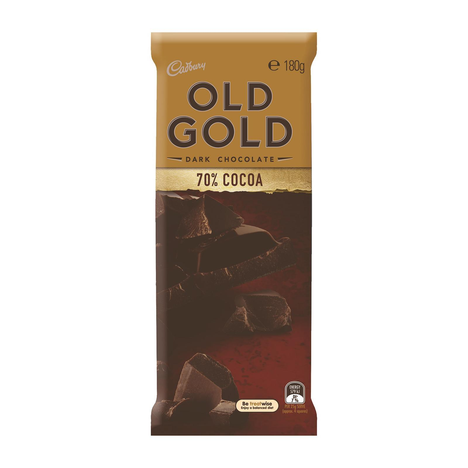 Cadbury Old Gold 70% Cocoa Dark Chocolate Block