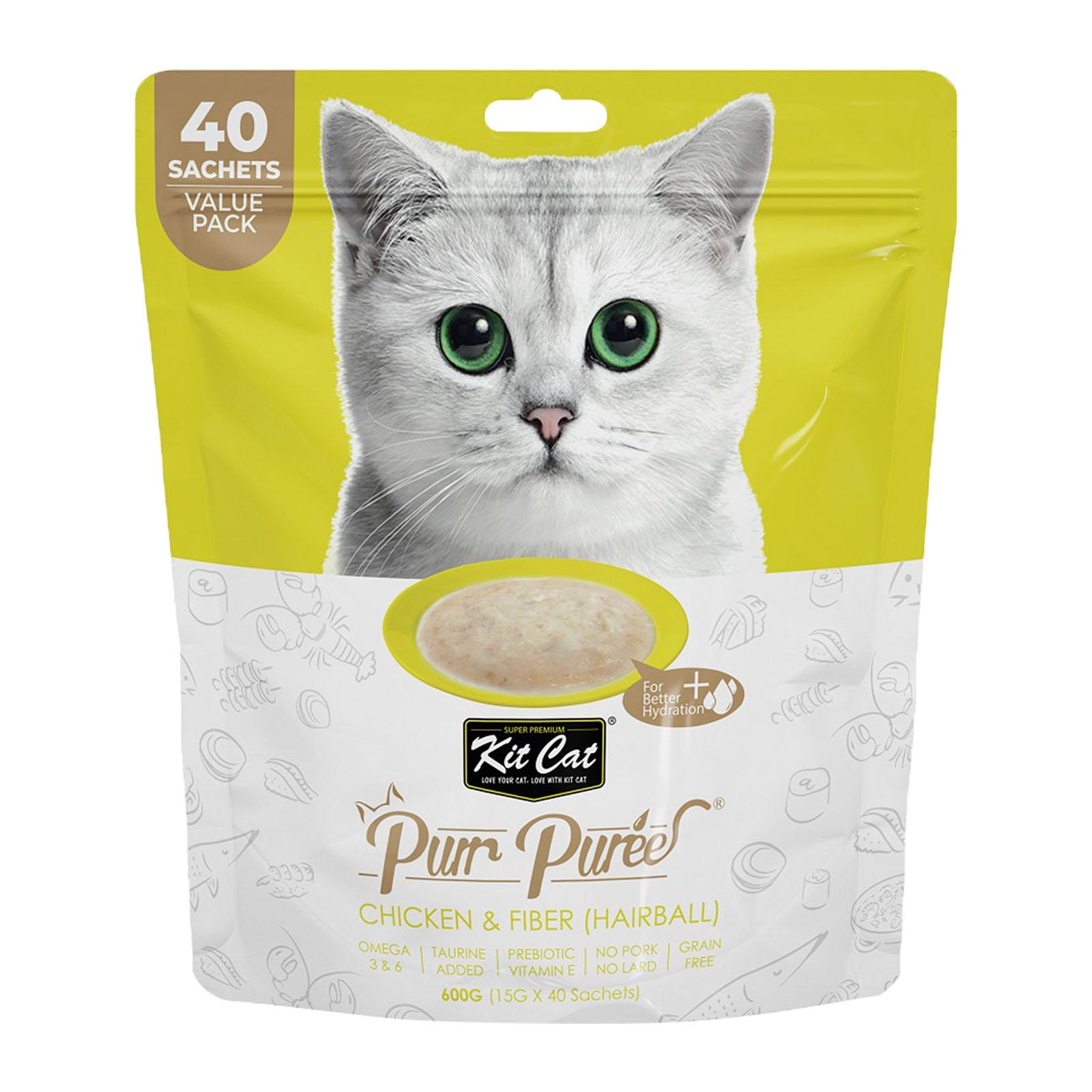 Kit Cat Kit Cat Purrpuree Chicken And Fiber 600 G Value Pack