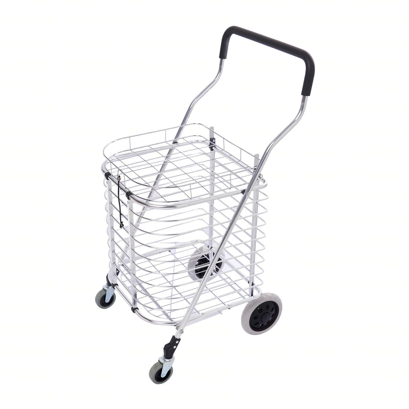 Leopard Aluminium Trolley Shopping Cart (L) 37.5x37.5x92 CM