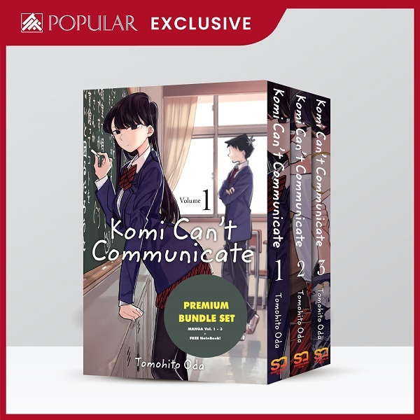 Komi Can't Communicate Bundle Set (Vol 1 - 3 + Free Notebook) / English Young Adult Books / Comic Books / (9789811441981)
