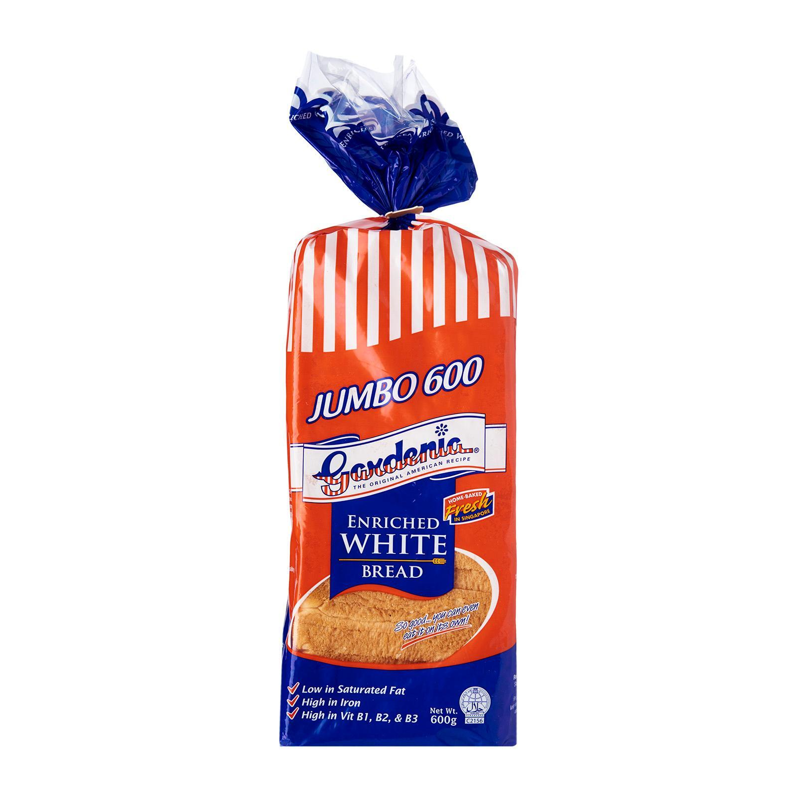 Gardenia Jumbo 600 Enriched White Bread By Redmart.