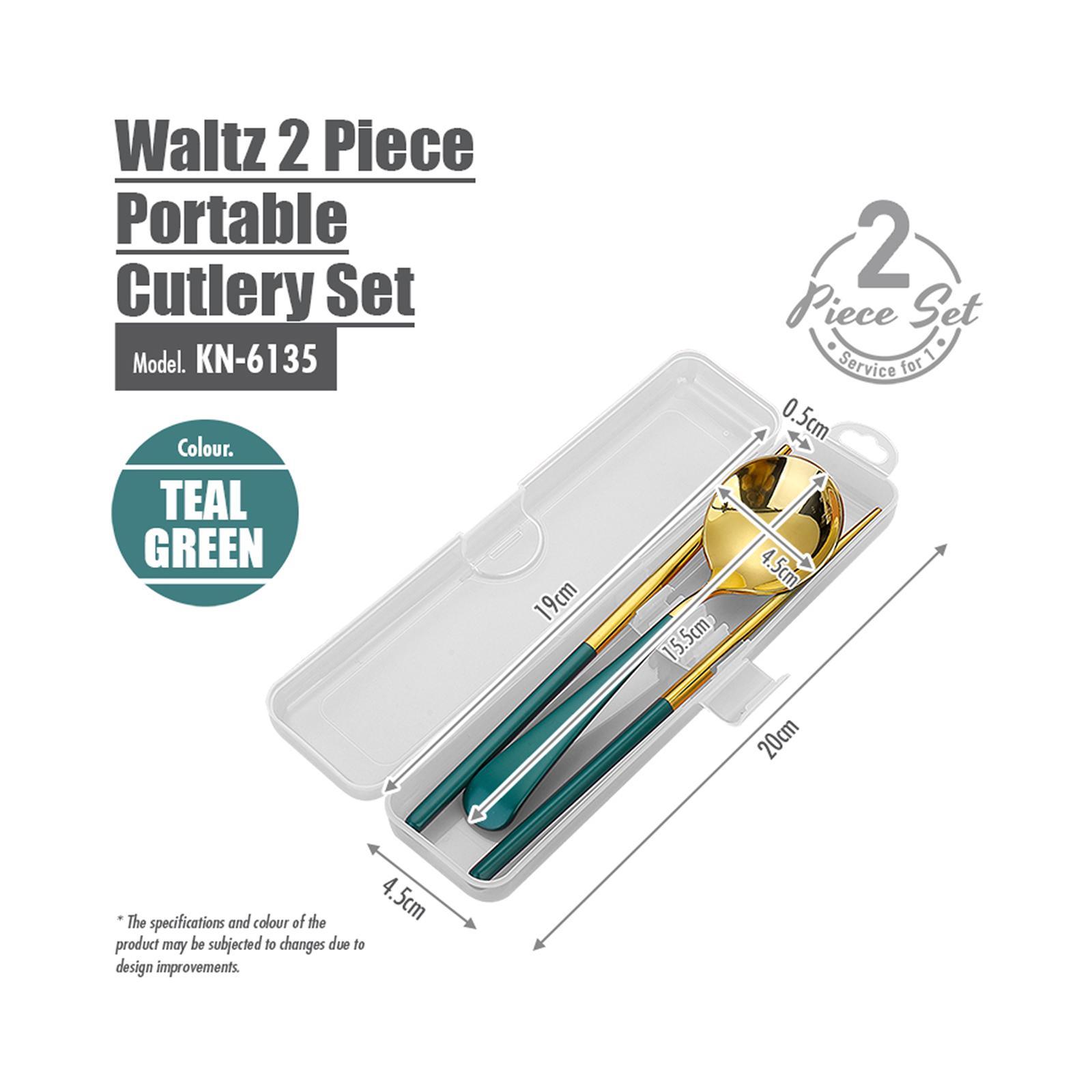 HOUZE Waltz 2 Piece Portable Cutlery Set - Gold
