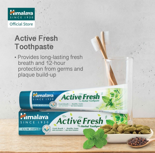Buy (Bundle of 4) HIMALAYA ACTIVE FRESH HERBAL TOOTHPASTE 100G Singapore