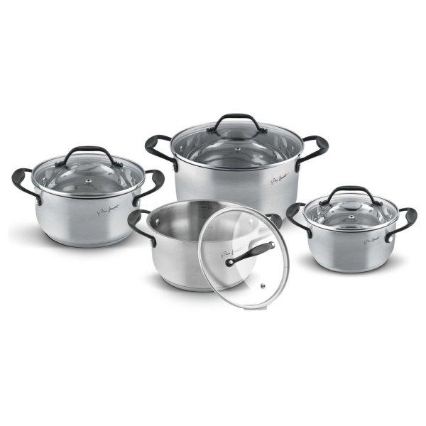 Lamart Kitchen Set Stainless Steel Pots 8 Pcs LT1211 Singapore