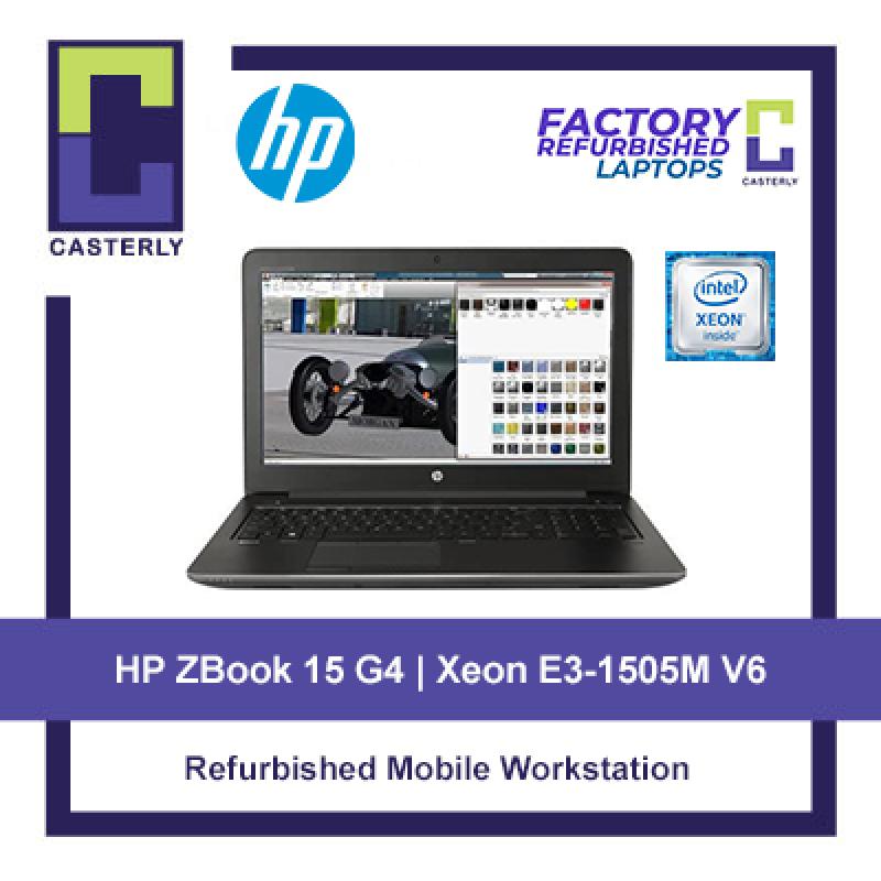 [Refurbished] HP ZBook 15 G4 Mobile Workstation / Intel Xeon E3-1505M v6 / 32GB Ram / 256GB SSD / Quadro M1200