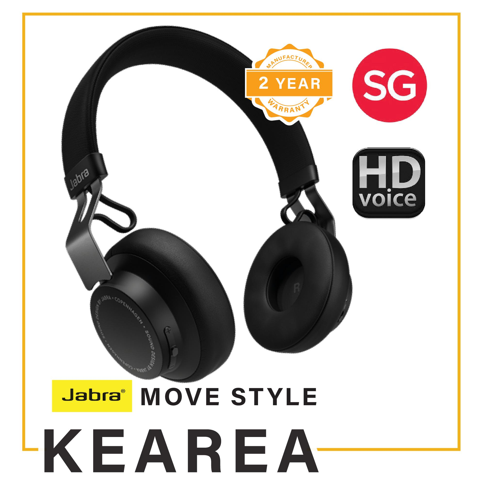 9befbeae75b Jabra Move Style (Mar'19) Bluetooth Wired/Wireless Headphones (Local  Manufacturer
