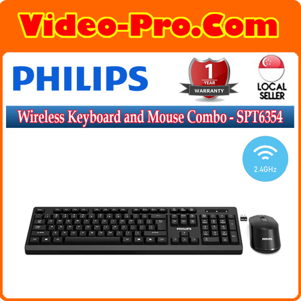 Philips Wireless Keyboard and Mouse Combo SPT6354