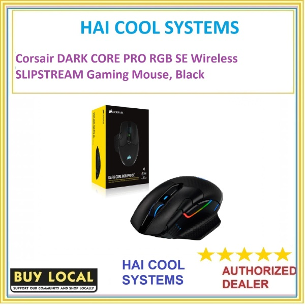 Corsair DARK CORE PRO RGB SE Wireless SLIPSTREAM Gaming Mouse, Black
