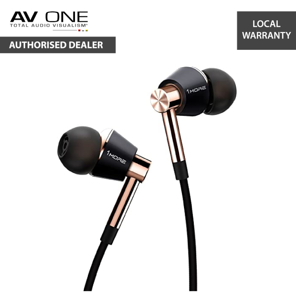 1MORE E1001 Triple-Driver In-Ear Headphones Authorized Dealer/Official Product/Warranty Singapore