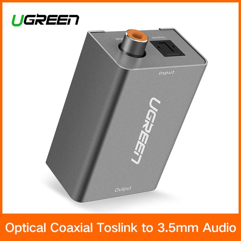 【free Uk Power Adapter】ugreen Digital To Analog Audio Adapter Optical Coaxial Toslink Audio Converter Rca L/r 3.5mm With Dc5v/2a Adapter Uk Plug - Intl By Ugreen Flagship Store
