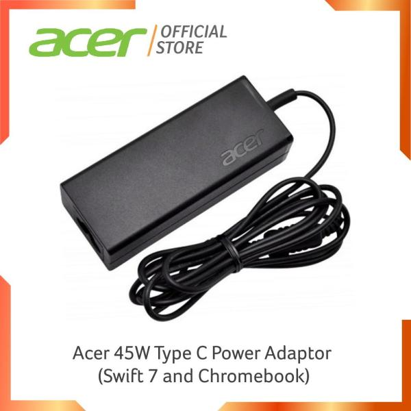 Acer 45W Type C Power Adaptor for Acer Models (Swift 7 and Chromebook)