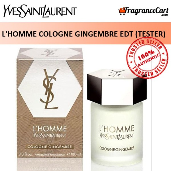 Buy YSL LHomme Cologne Gingembre EDT for Men (100ml Tester) Yves Saint Laurent Eau de Toilette Ginger LHomme [Brand New 100% Authentic Perfume/Fragrance] Singapore