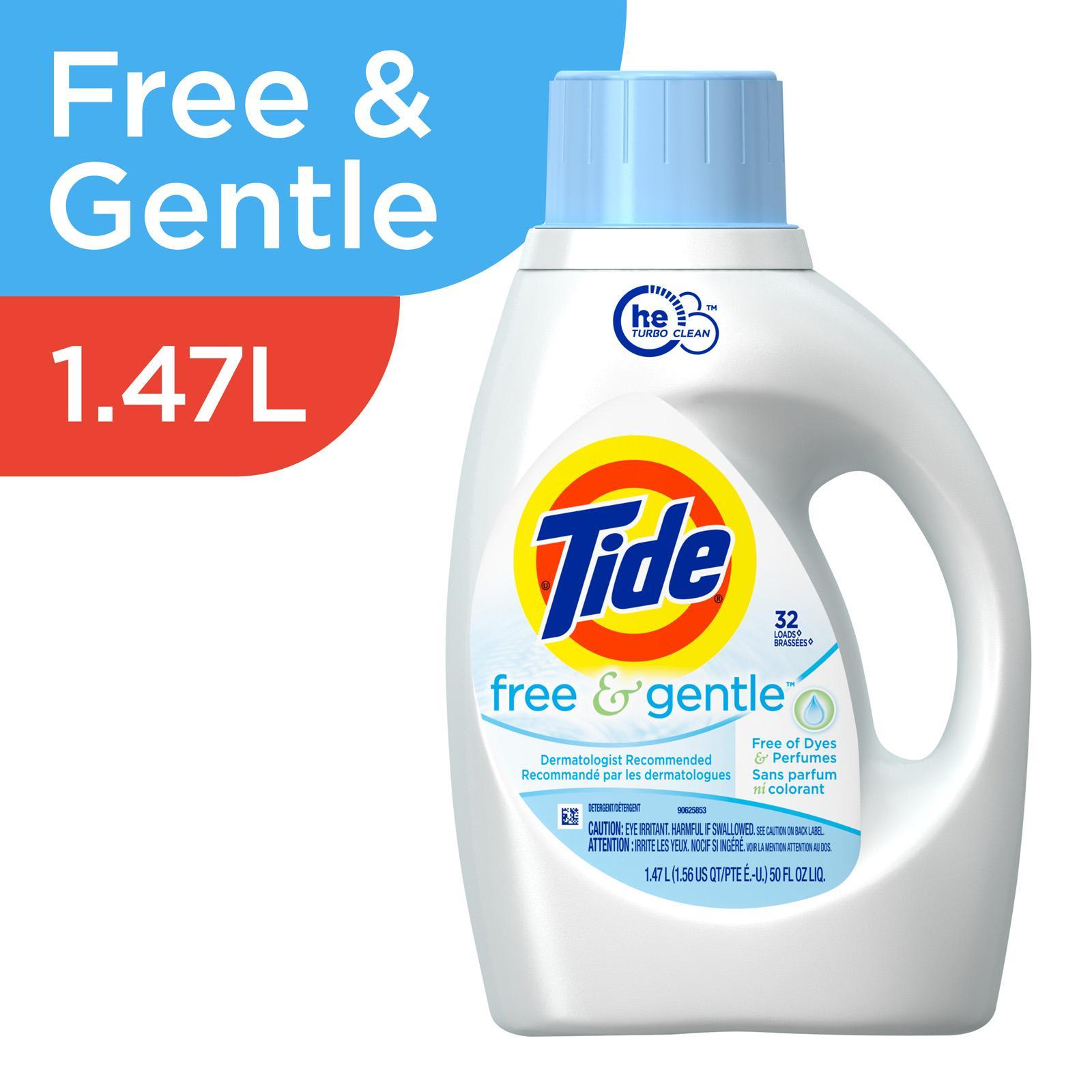 TIDE Turbo Clean Liquid Laundry - Free & Gentle 1.47L