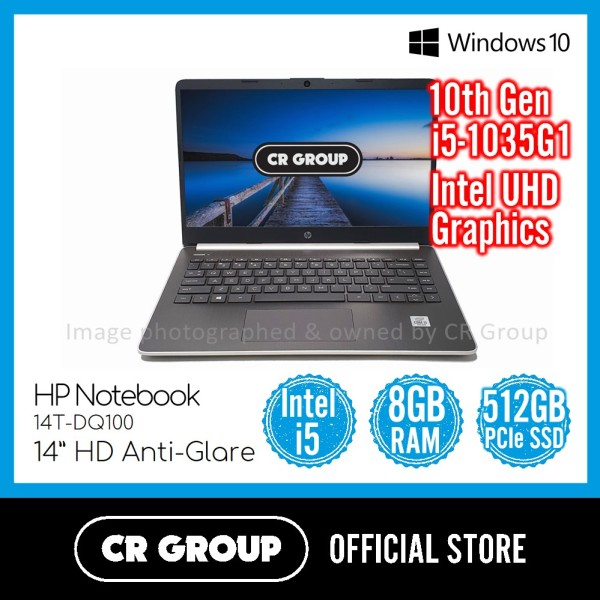 HP Notebook 14T-DQ100 14 Inch HD | Intel Core i5-1035G1 | 8GB DDR4 RAM | 512GB PCle SSD | Intel UHD Graphics