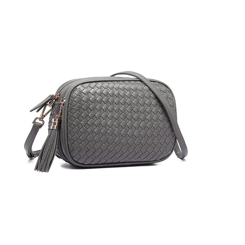 Womens Bag Package 2019 New Style Spring And Summer Fashion Weaving Square Sling Bag Womens Bag Over-the-shoulder Bag Shoulder Tassels Small Bag