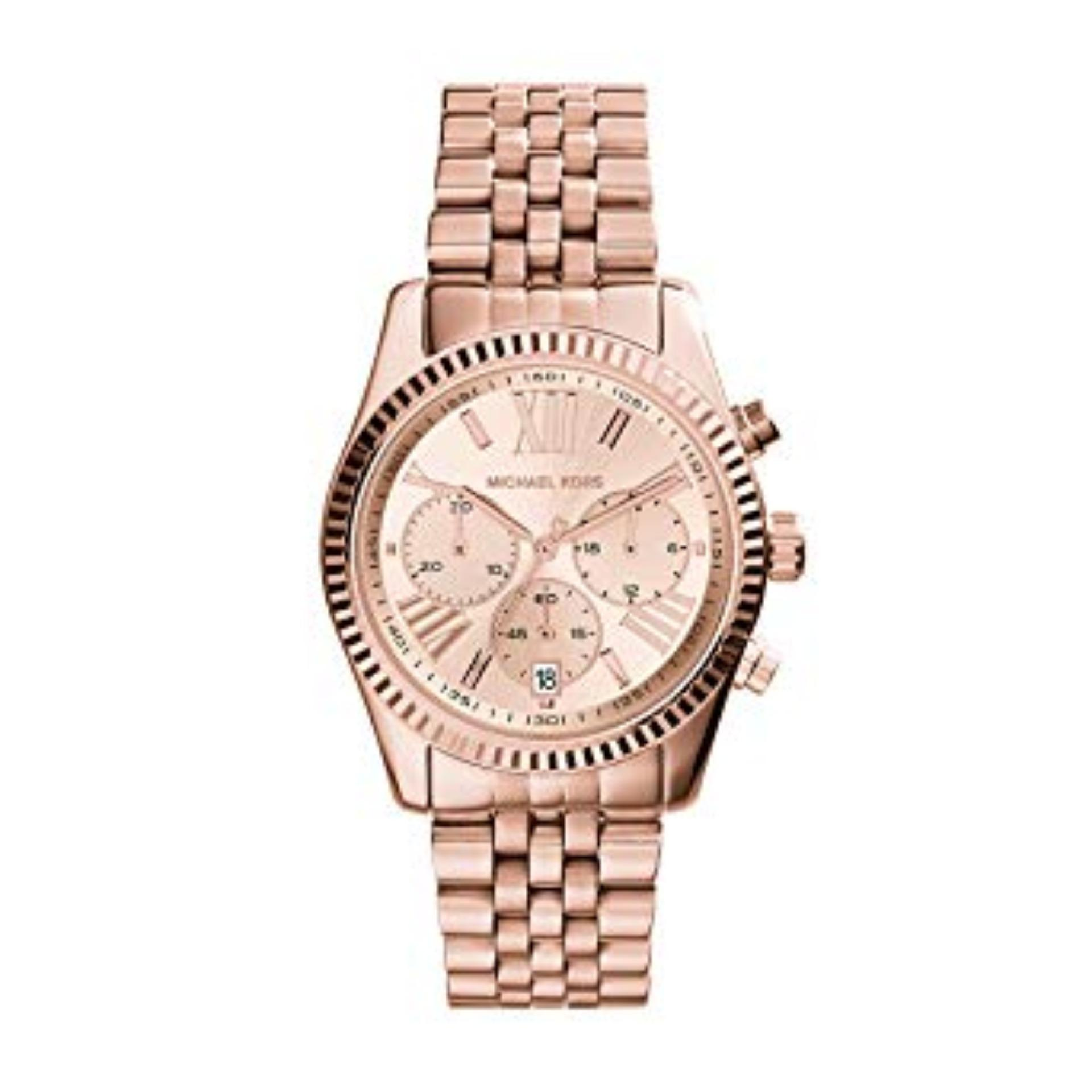 f6f88599baf25 Singapore. Michael Kors Lexington Women s Rose Gold Stainless Steel Strap  Watch MK5569