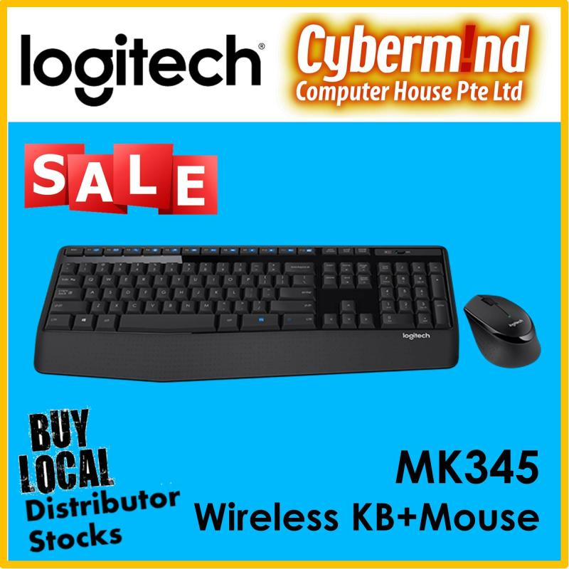 (Logitech Year End / 12.12 PROMO) Logitech MK345 Wireless Full Size Combo (Keyboard + Mouse) (Local Distributors Stocks) Singapore