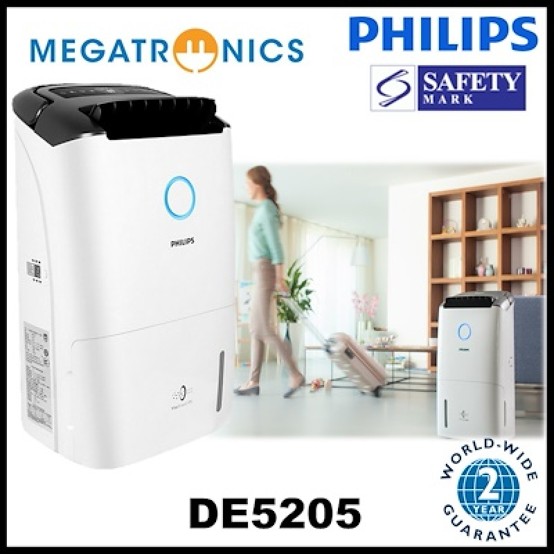 (we have stock,ship out next day) Philips DE5205/30 Series 5000 2-in 1 Air Dehumidifier - DE5205/30 Singapore