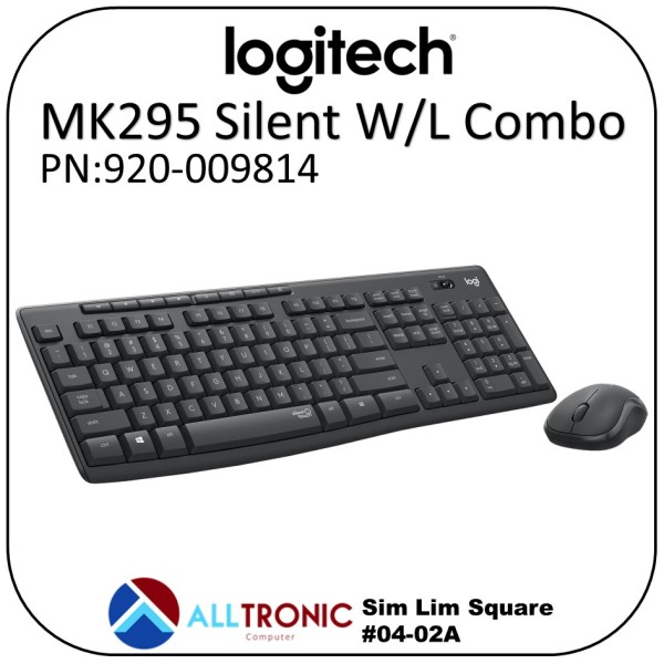 Logitech Mk295 Silent Wireless Combo Keyboard and Mouse 920-009814 Singapore