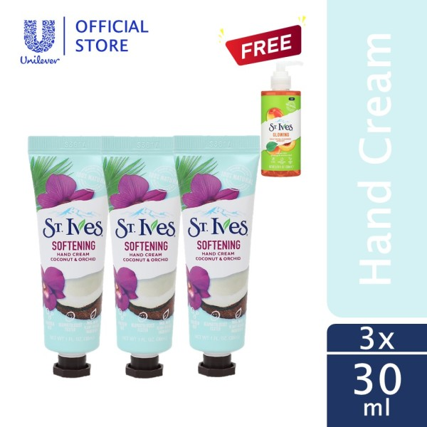 Buy (Pack of 3) St. Ives Softening Coconut & Orchid Hand Cream 30ml Singapore