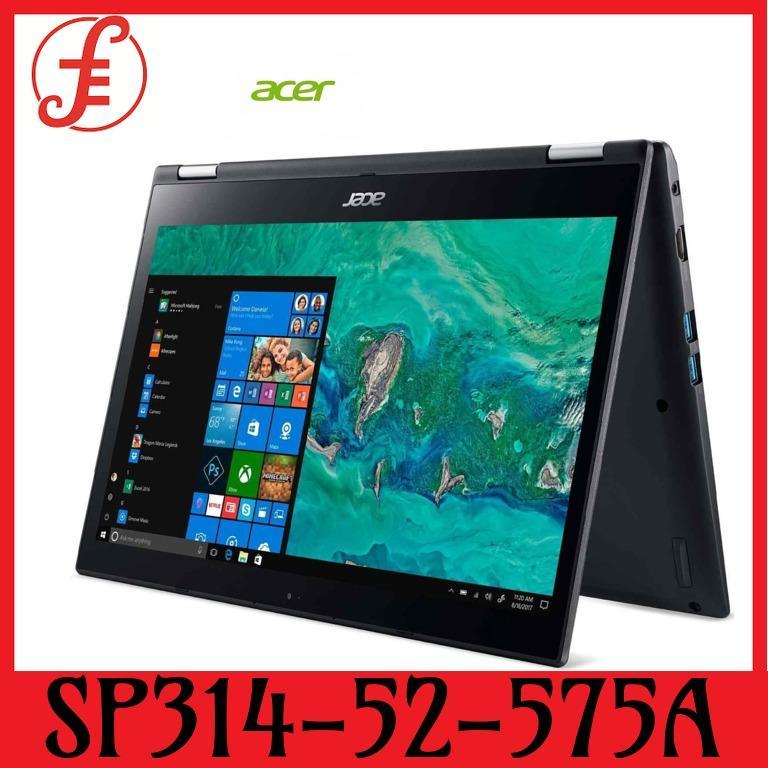 ACER SP314-52-575A (GREY) 14 IN INTEL CORE I5-8265U 8GB 256GB SSD WIN 10