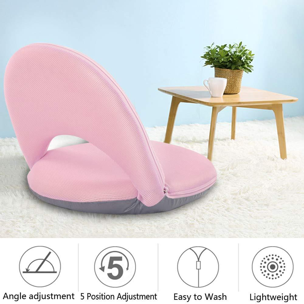 Floor Chair Floor Cushion Sofa Lounge Chair Game Chair Adjustable 5 Position Reclining Washable Cover Soft Foam with Firm Support for Kids Adult