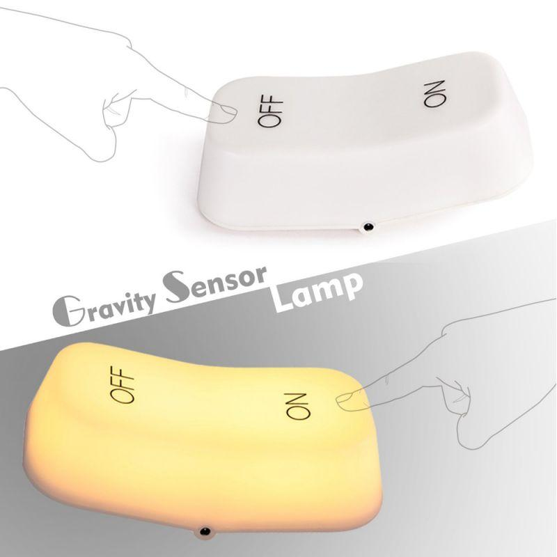 Bedside Table Lamp Rechargeable Tilted On/Off Design Gravity Sensor Available in 2 Color