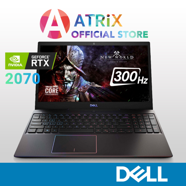 【Same Day Delivery】Dell Gaming G5 5500 | GeForce RTX2070 8GB GDDR6 | 15.6inch 300Hz 300nits | i7-10750H | 16GB RAM | 1TB SSD | WiFi 6 AX | Win 10 | 2Yrs Dell Onsite | New Dell G5 5500 5500-107118GL