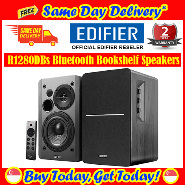 [Free Same Day Delivery*] Edifier R1280DBs Bluetooth Bookshelf Speakers 42W RMS with Subwoofer Line Out (*Order Before 2pm on Working Day, will deliver same day, order after 2pm, will deliver next working day.)