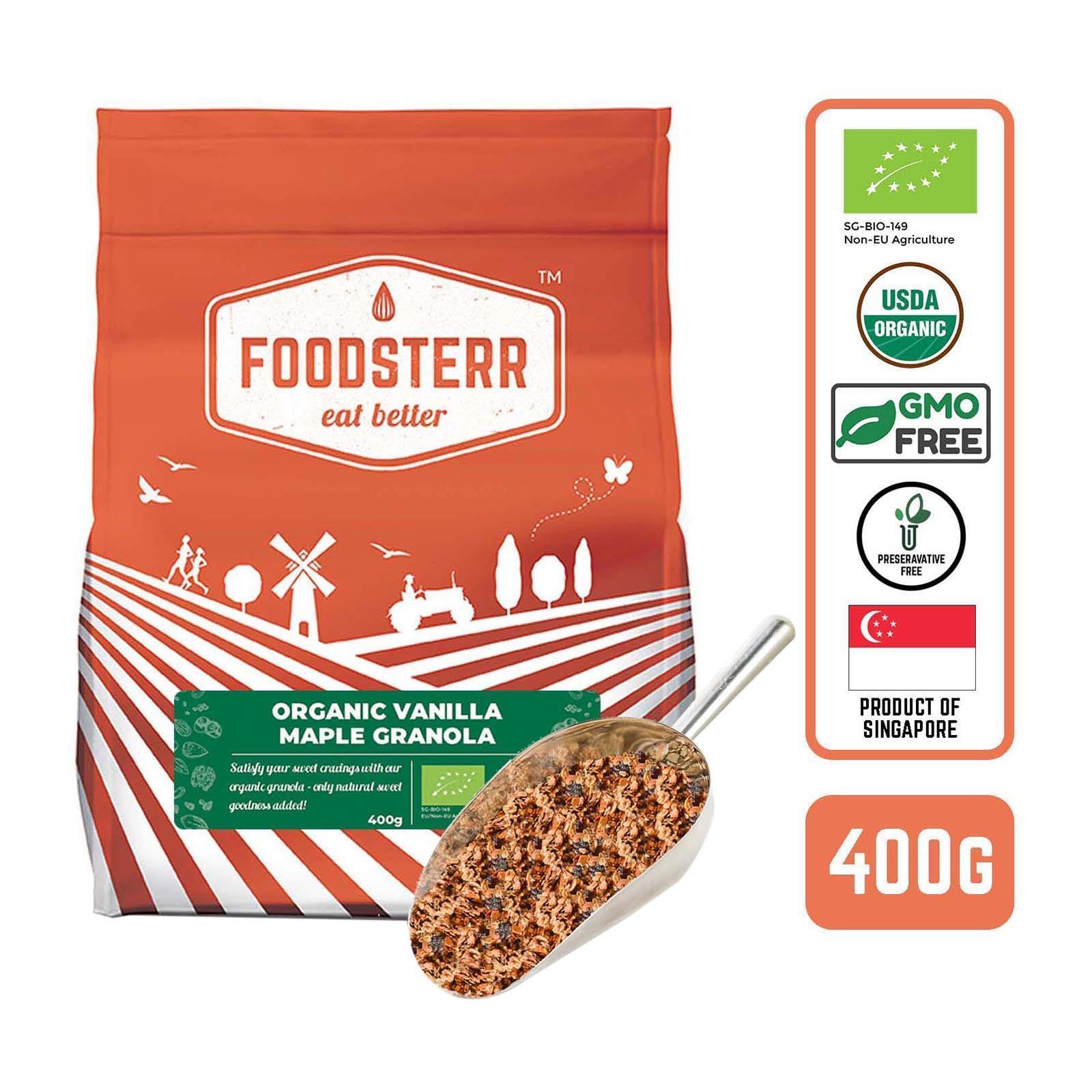 Foodsterr Organic Vanilla Almond Maple Granola