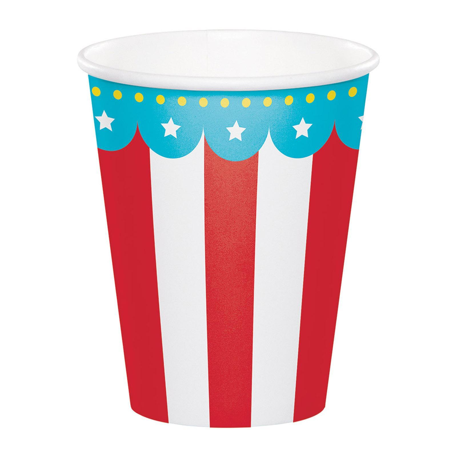 Creative Converting Circus Party 9 Oz Paper Cups 8Pcs-Pack
