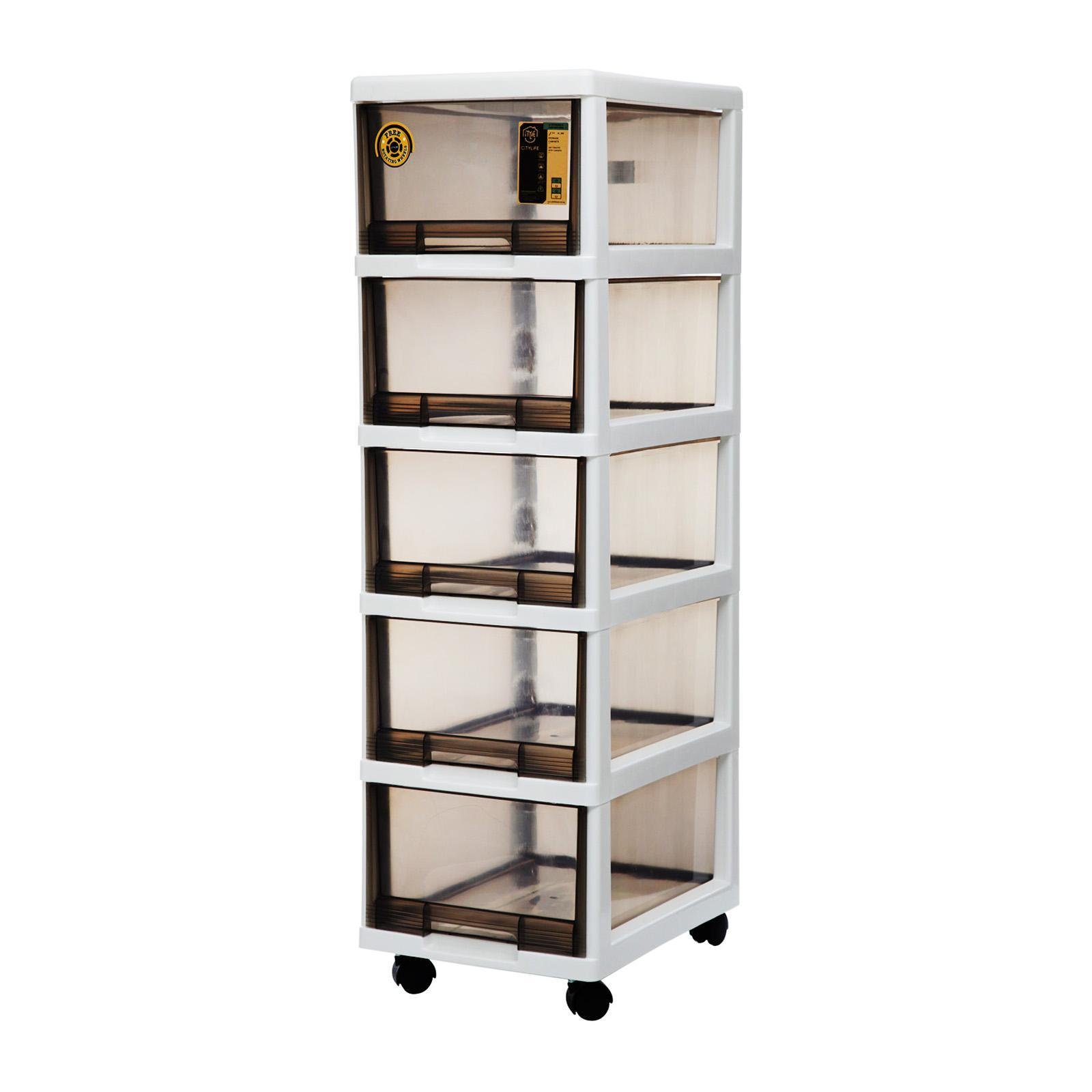 CITYLIFE 5 Tier Storage Cabinet With Wheels