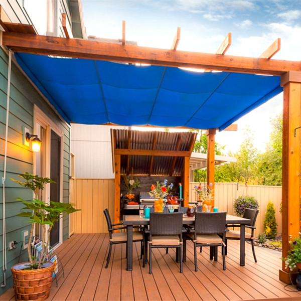 Sun Shade Mesh Canopy Awning Privacy Screen Window Cover Hot Resistant Protection Shelter 90% UV Blocking for Gazebo Patio Garden Outdoor Greenhouse Flower Barn Kennel Fence Blue