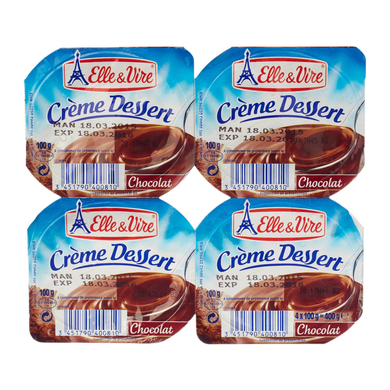 Elle & Vire Cream Dessert - Chocolate By Redmart.