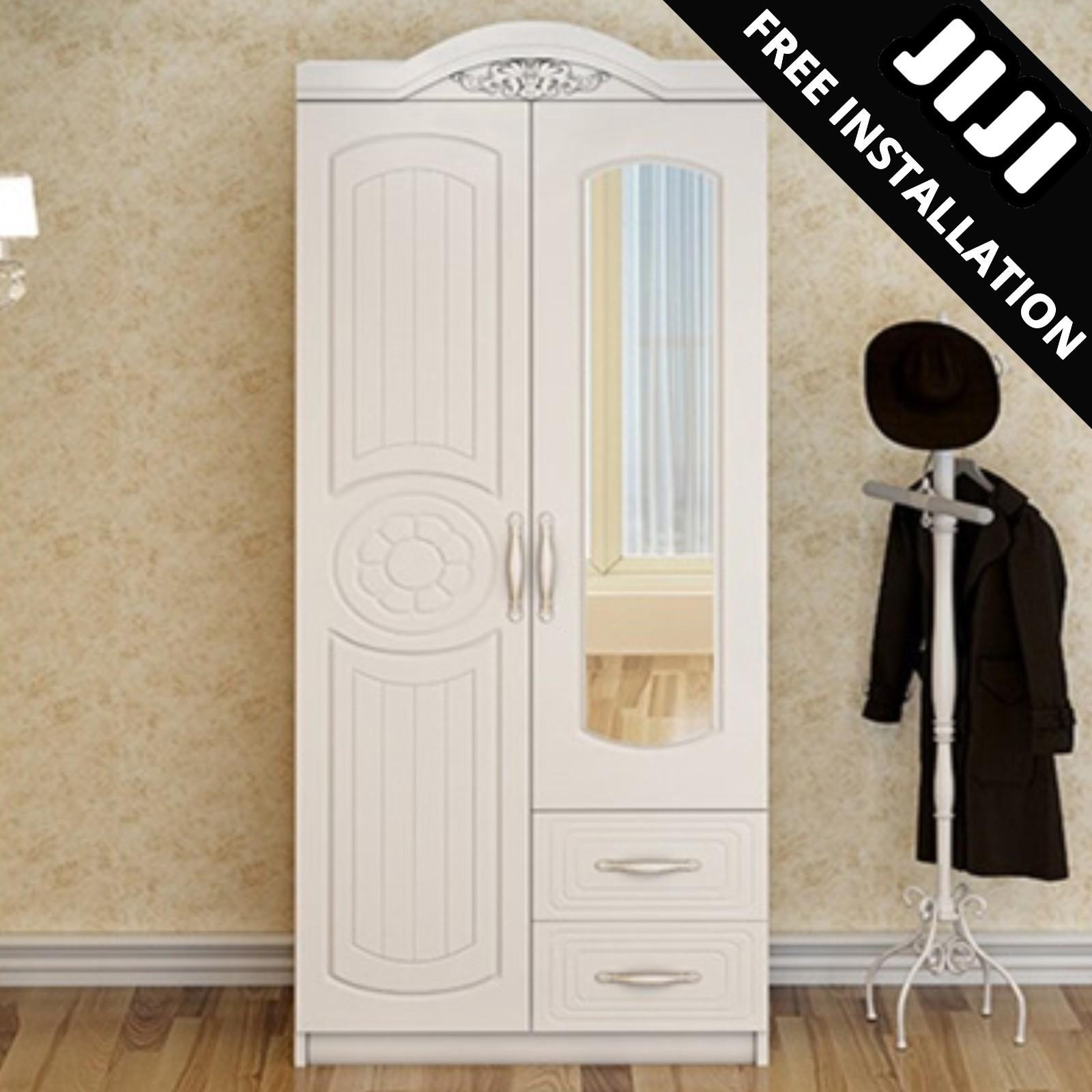 JIJI Premium European White Wardrobe With Mirror (Free Installation) - Bedroom Furniture / Wardrobes / 2019 (SG)