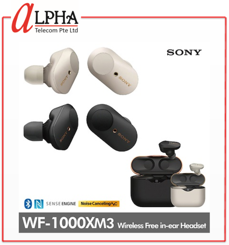 Sony WF1000XM3 True Wireless Noise Cancelling Earbuds Singapore