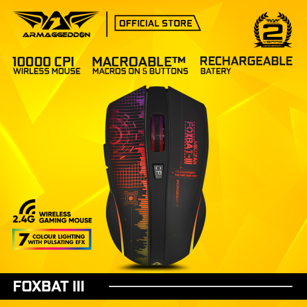 Armaggeddon Mikoyan Foxbat-III Rechargeable Wireless Gaming Mouse [Free Mouse Pad]