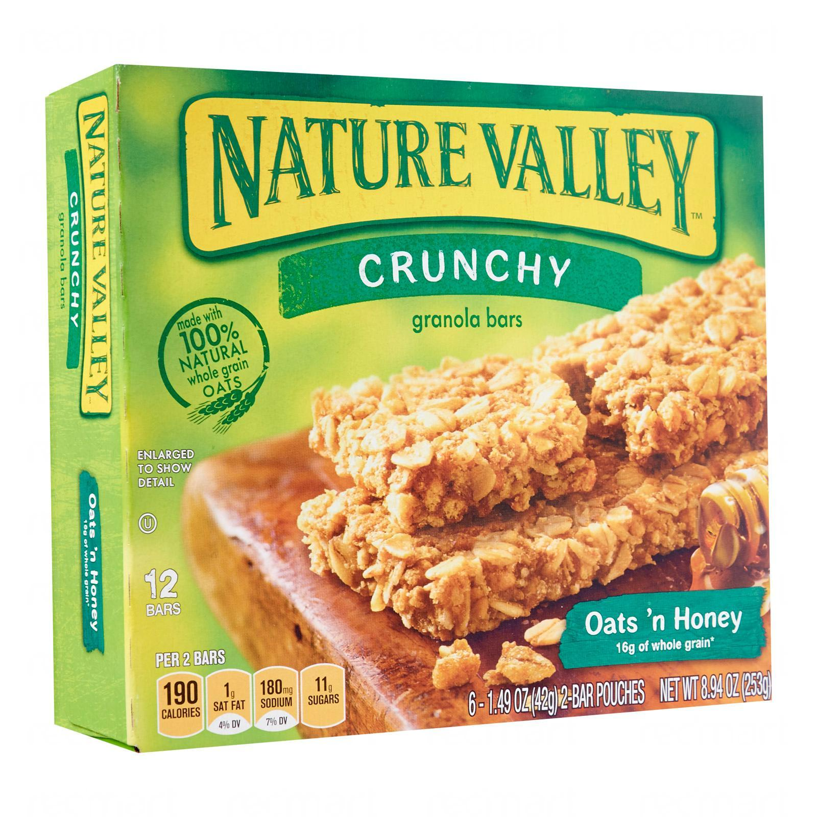 Nature Valley Oats N Honey Crunchy Granola Bars By Redmart.
