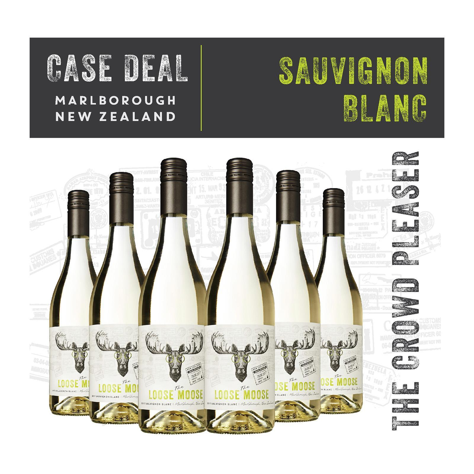 The Loose Moose Marlborough Sauvignon Blanc - Case - White Wine