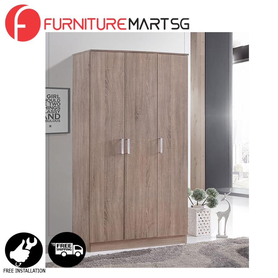 [FurnitureMartSG] BRITIAN-3 Wardrobe _FREE DELIVERY + FREE INSTALLATION