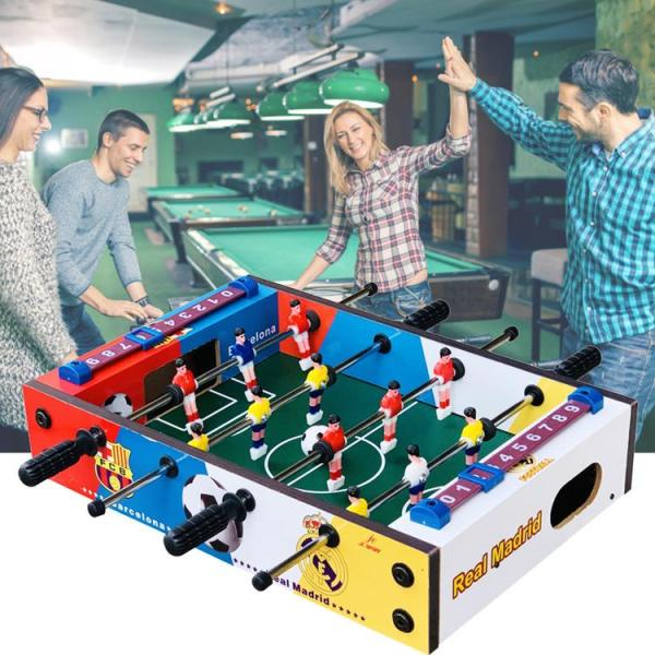Foosball Table Wooden Soccer Game Table Indoor Table Soccer Set for Game Room Bars Family Night