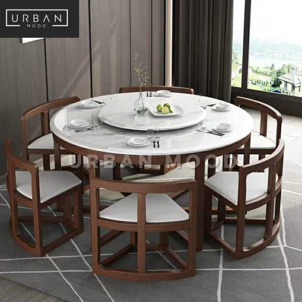 [Pre-Order] MICAH Oriental Dining Table & Chairs