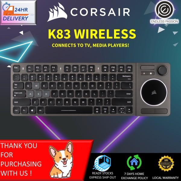 Corsair K83 Wireless Keyboard - Bluetooth and USB - Works w/ PC, Smart TV, Streaming Box - Backlit LED