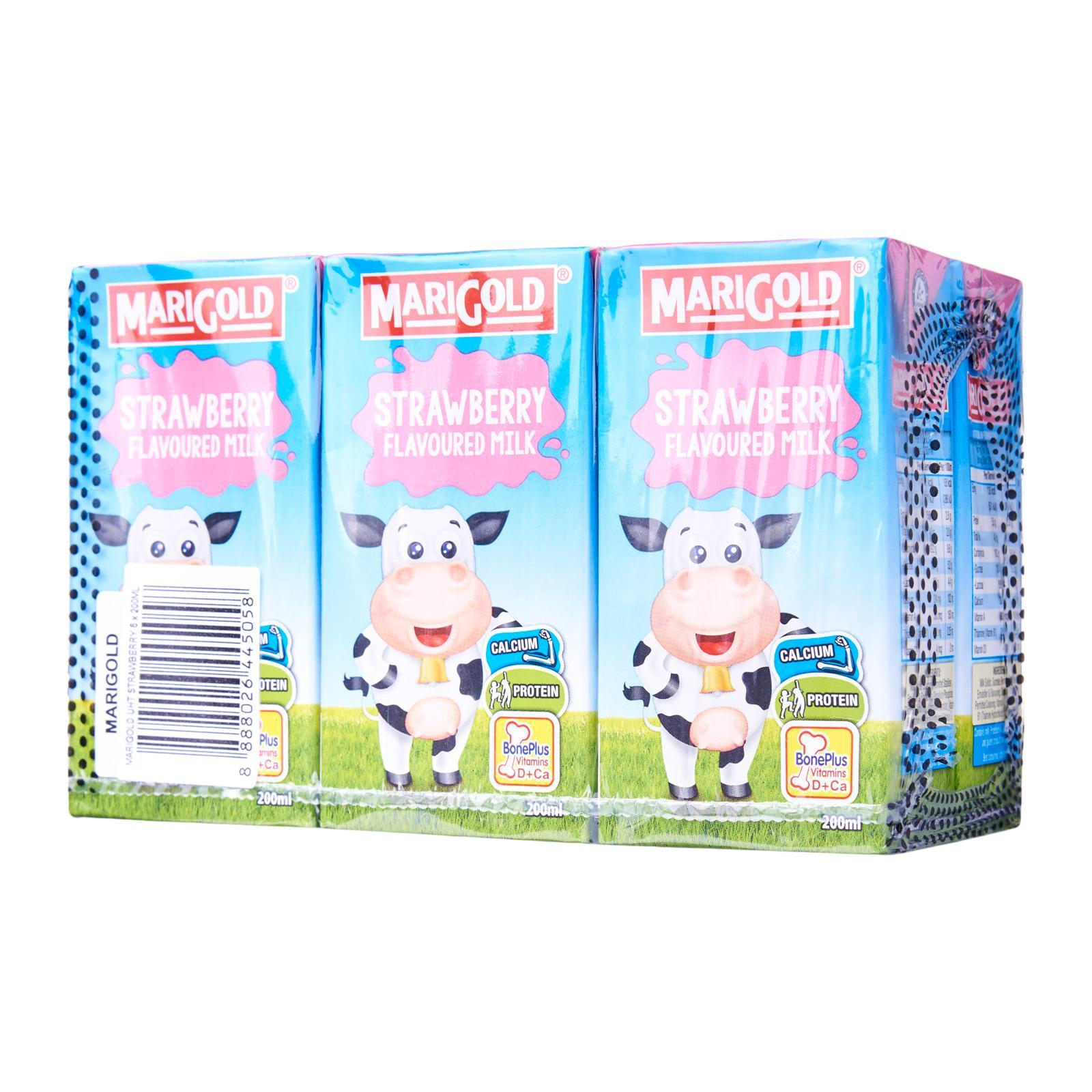 Marigold Strawberry Uht Milk By Redmart.