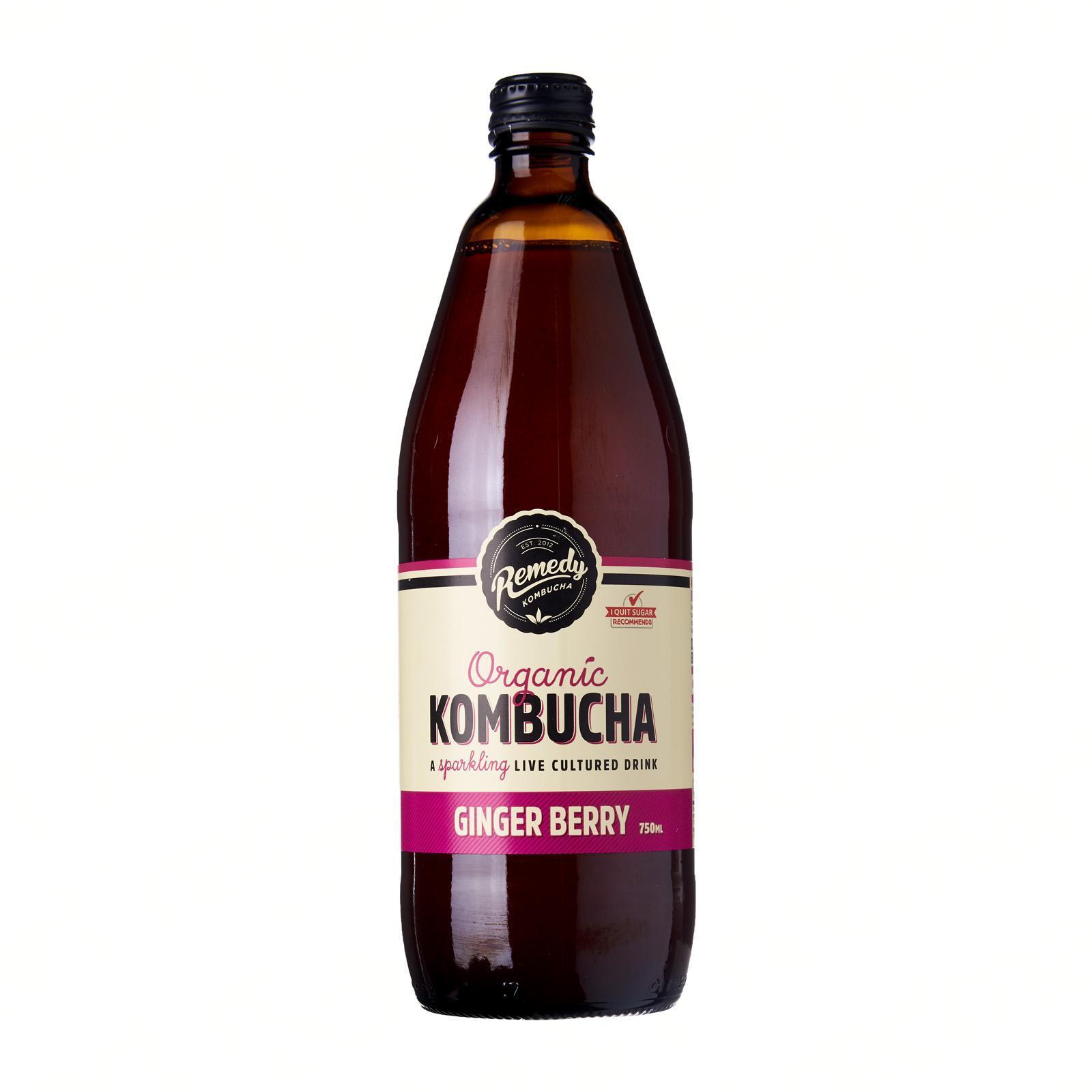 Remedy Organic Kombucha Ginger Berry By Redmart.